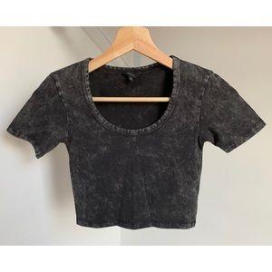 Talula • XXS • Cropped Scoopneck Short Sleeve Top